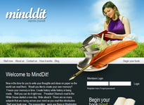 Web developer portfolio: Minddit
