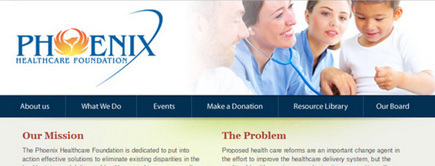 Web developer portfolio: Phoenix Health Care Foundation