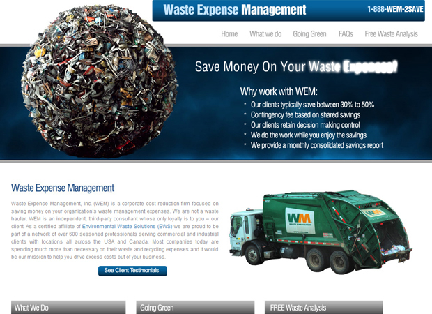 Waste Management Web Design - Waste Management Web Development