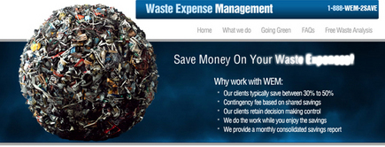 Web developer portfolio: Waste Expense Management