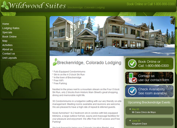 Lodging Web Design - Lodging Web Development - Inn Web Design - Hotels Web Design