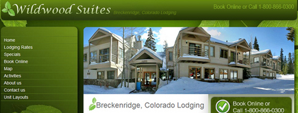 Web developer portfolio: Wild Wood Suites